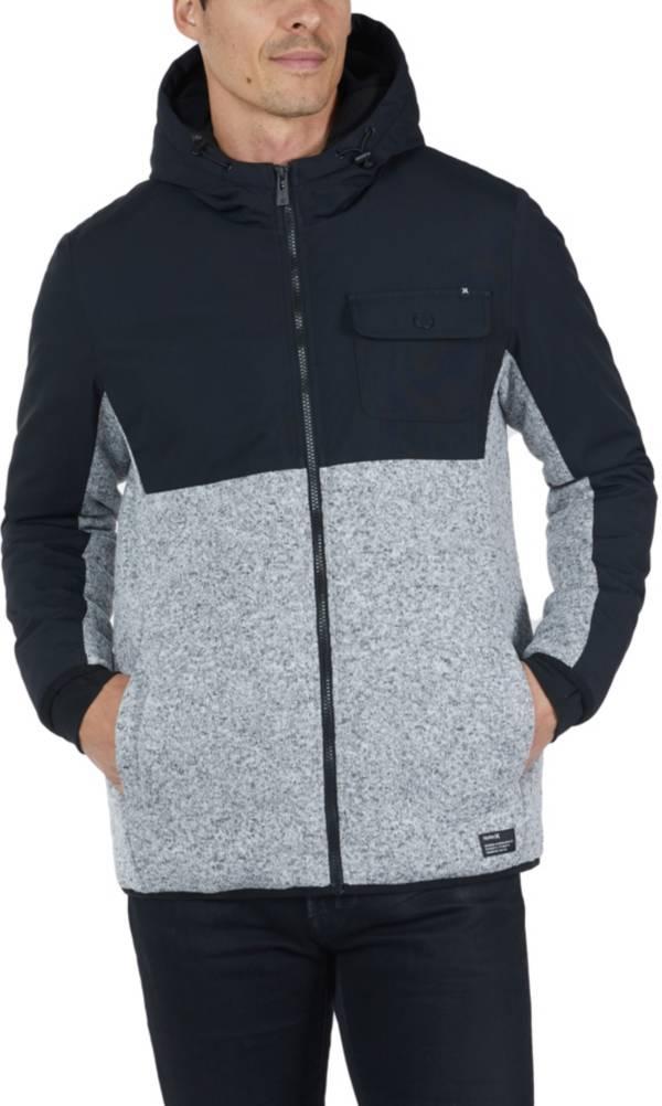 Hurley Men's Asgar Oxford Fleece Full-Zip Jacket product image