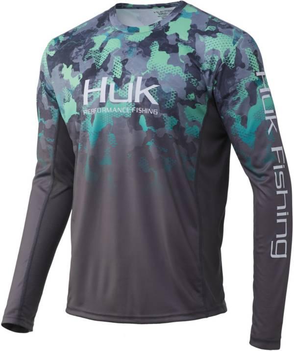 HUK Men's Icon X KC Refraction Camo Fade Long Sleeve Fishing Shirt product image