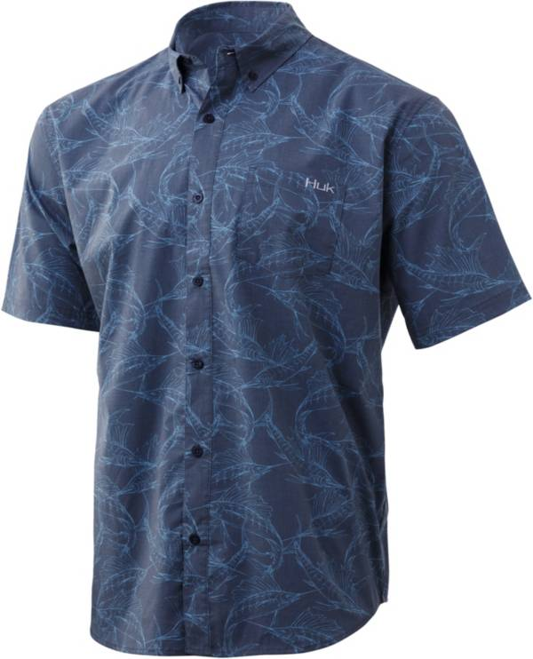 Huk Men's Kona Woven Short Sleeve Button Down Shirt product image