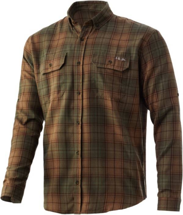 Huk Men's Maverick Flannel Button Down Shirt product image