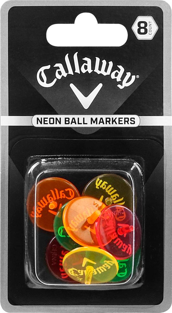 Callaway Neon Mix Ball Markers – 8 Pack product image