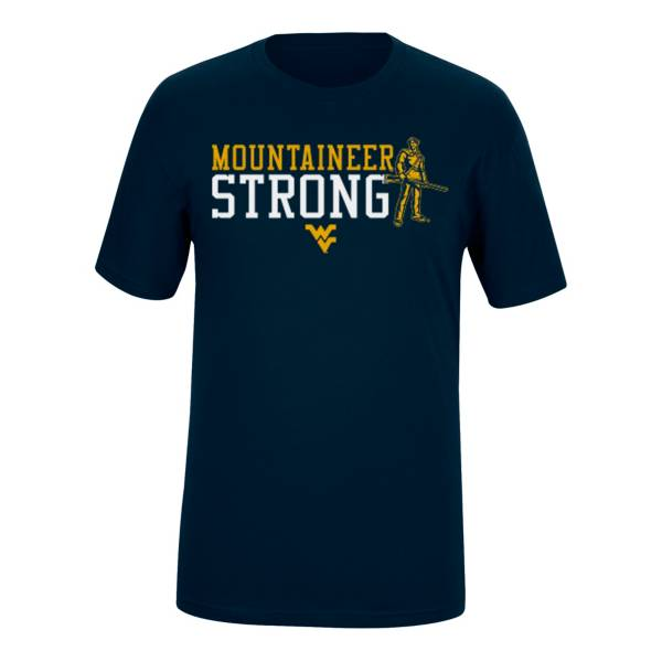Top of the World Men's West Virginia Mountaineers Fan Blue T-Shirt product image