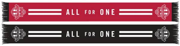 Ruffneck Scarves Toronto FC Red n' Black Stripes Scarf product image