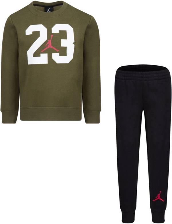 Jordan Little Boys' Textured 23 Fleece Crewneck Sweatshirt and Jogger Pants Set product image