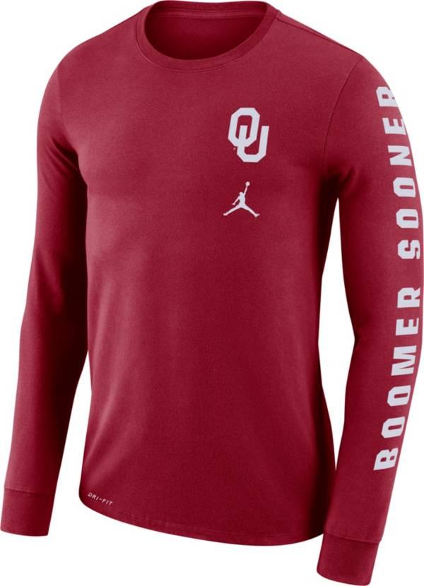 Jordan Men's Oklahoma Sooners Crimson 'Boomer Sooner' Mantra Long Sleeve T-Shirt product image