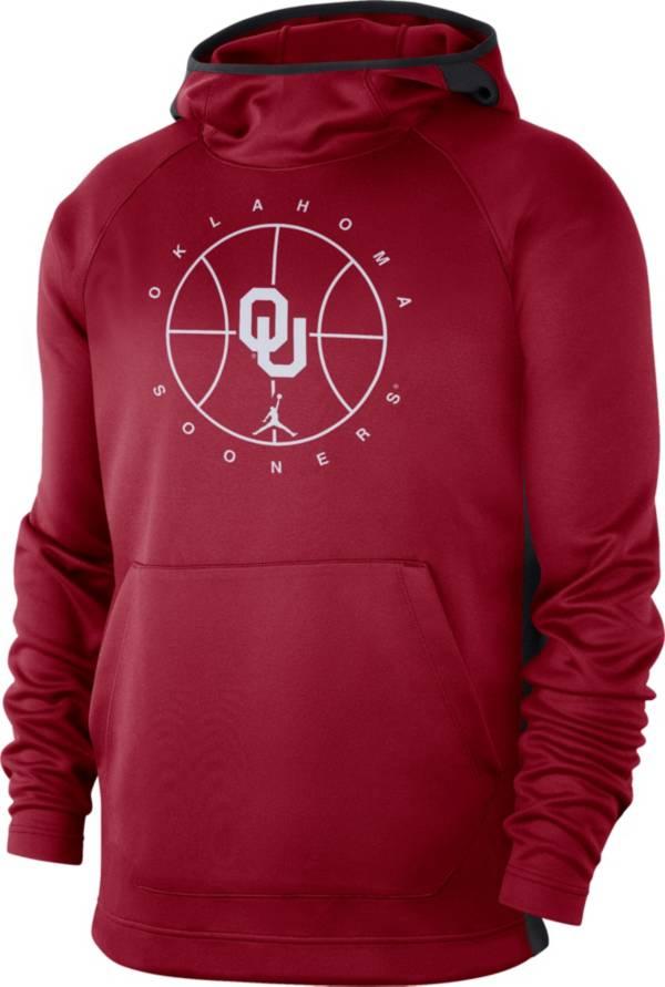 Jordan Men's Oklahoma Sooners Crimson Spotlight Basketball Pullover Hoodie product image