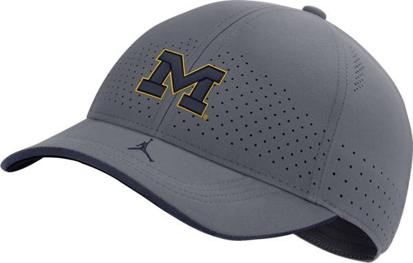Jordan Men's Michigan Wolverines Grey Low-Pro L91 Adjustable Hat product image