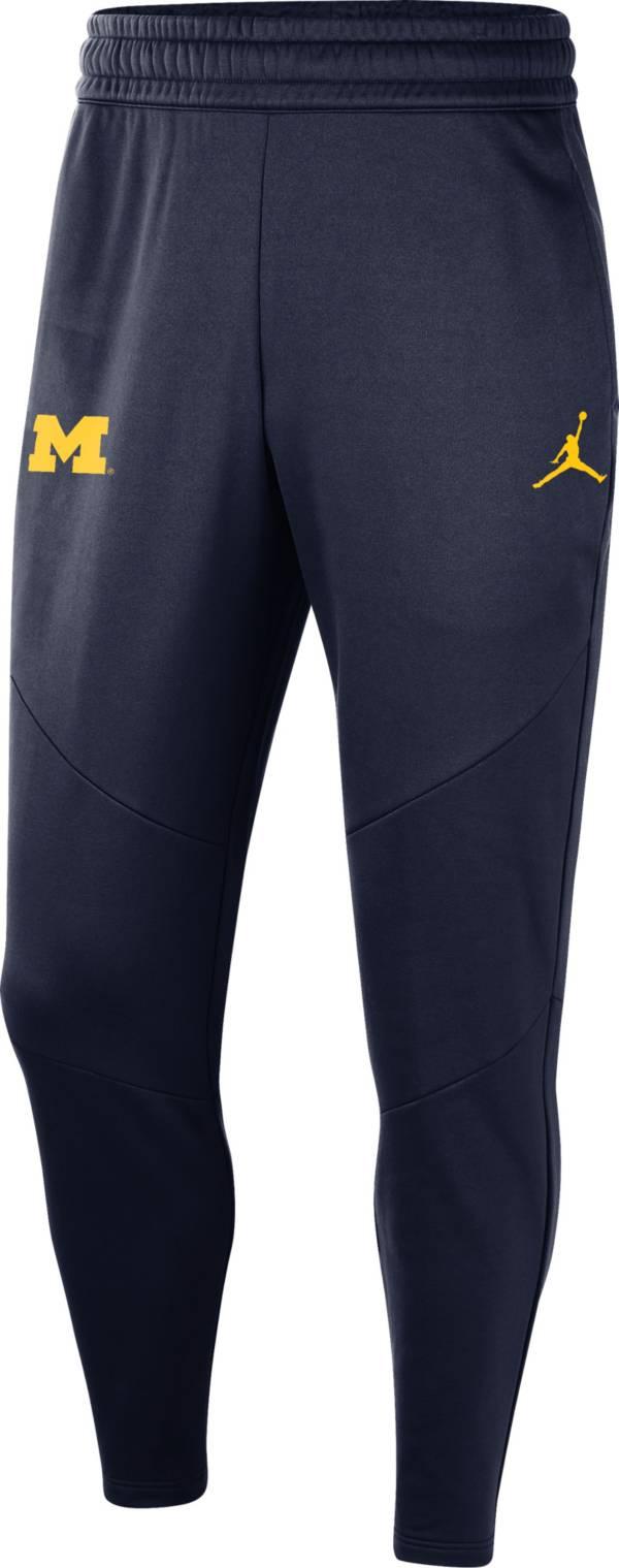 Jordan Men's Michigan Wolverines Blue Practice Performance Fleece Pants product image