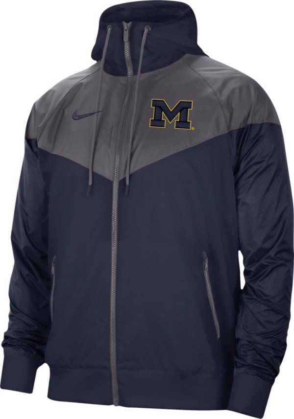 Nike Men's Michigan Wolverines Blue Windrunner Jacket product image