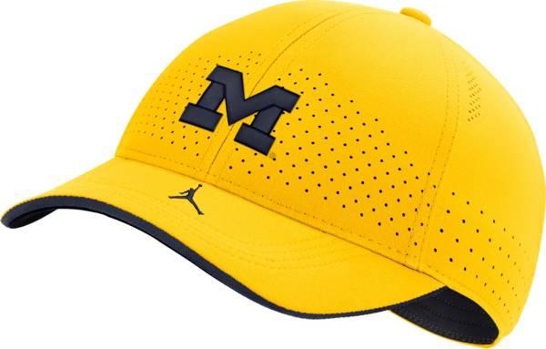 Jordan Men's Michigan Wolverines Maize Low-Pro L91 Adjustable Hat product image