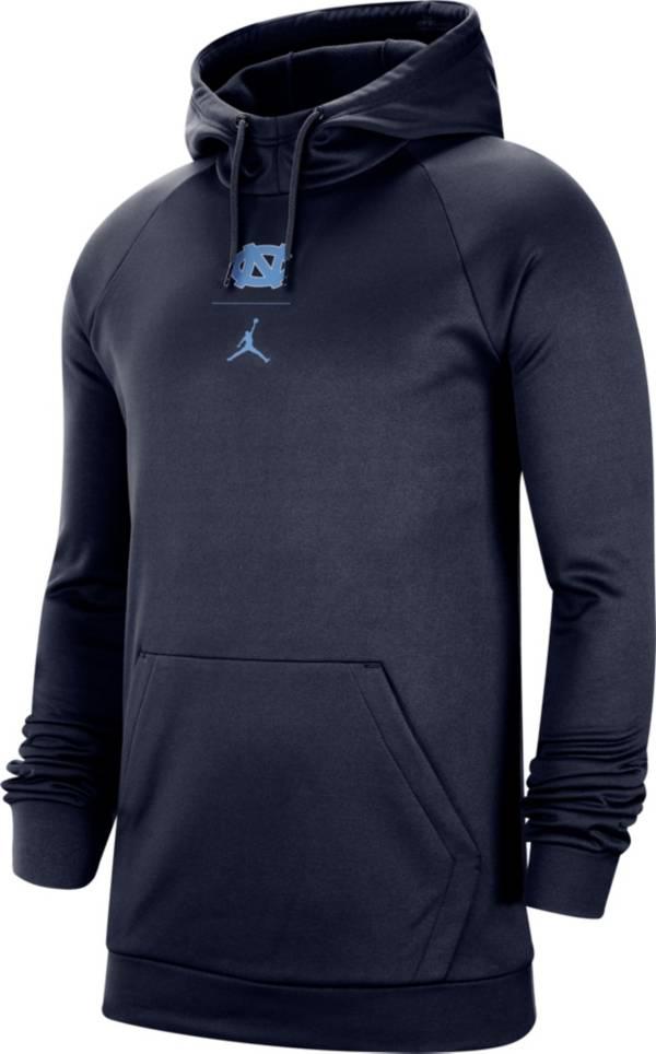 Jordan Men's North Carolina Tar Heels Navy Alpha Therma Fleece Pullover Hoodie product image