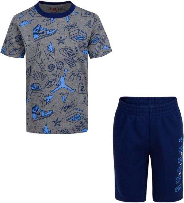 Jordan Boys' Fun Flight AOP T-Shirt and Shorts Set product image