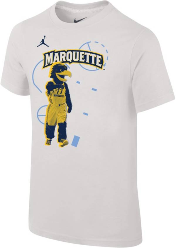 Jordan Youth Marquette Golden Eagles Bench White T-Shirt product image