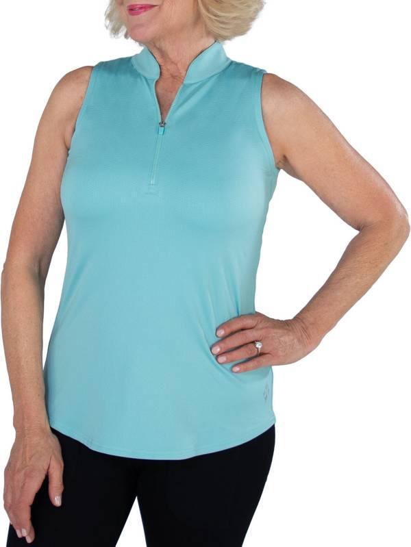 Jofit Women's Cutaway Mock Neck Sleeveless Golf Polo product image