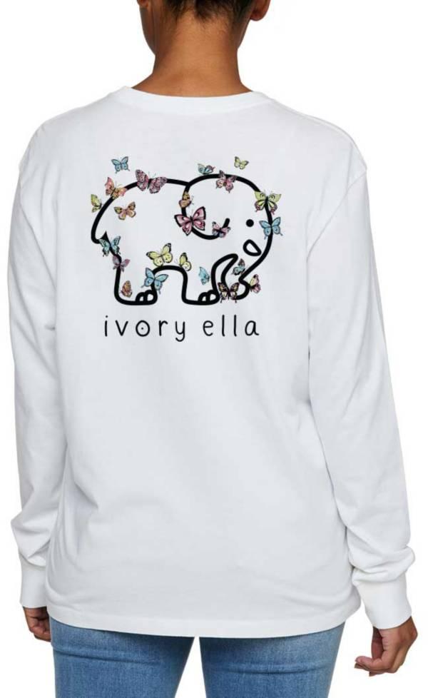 Ivory Ella Women's Heritage Papillion Oversized Long Sleeve T-Shirt product image