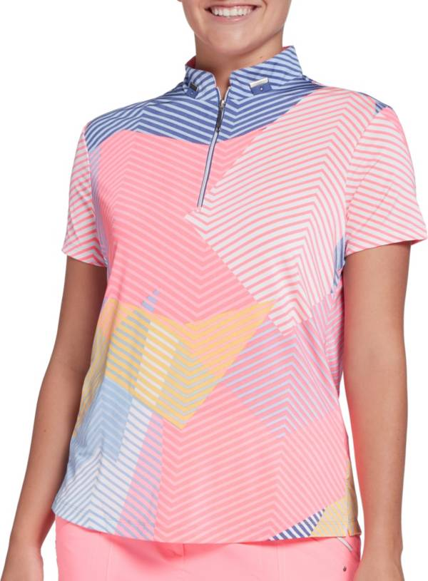 Jamie Sadock Women's Geo Print Short Sleeve Golf Polo product image