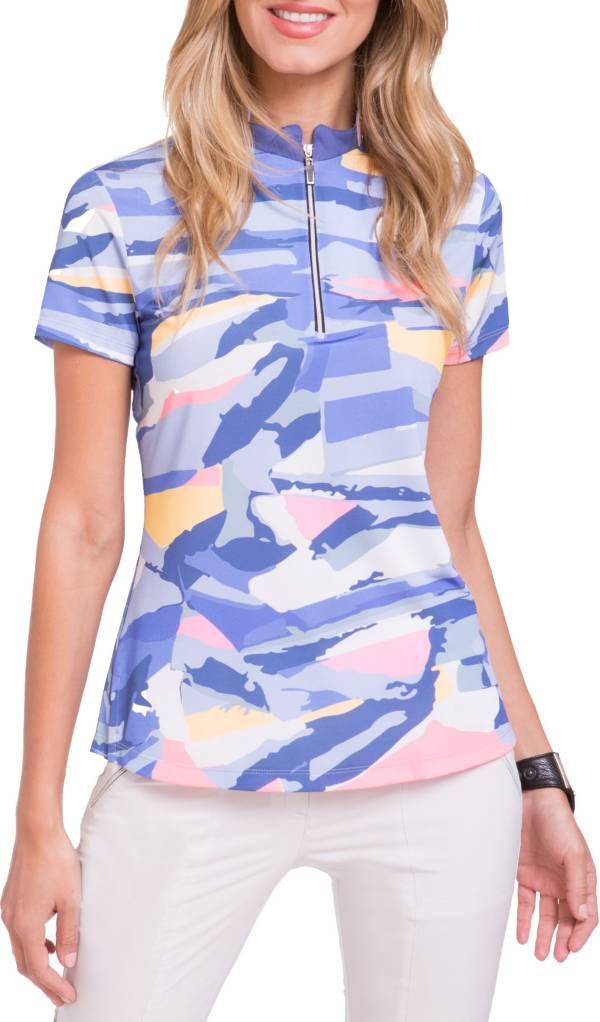 Jamie Sadock Women's Jenga Print Short Sleeve Golf Polo product image