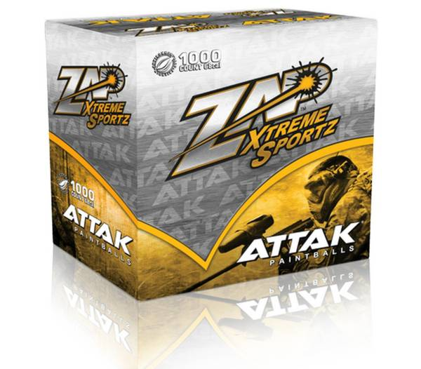 Zap Attack Yellow 1,000ct Paintballs product image