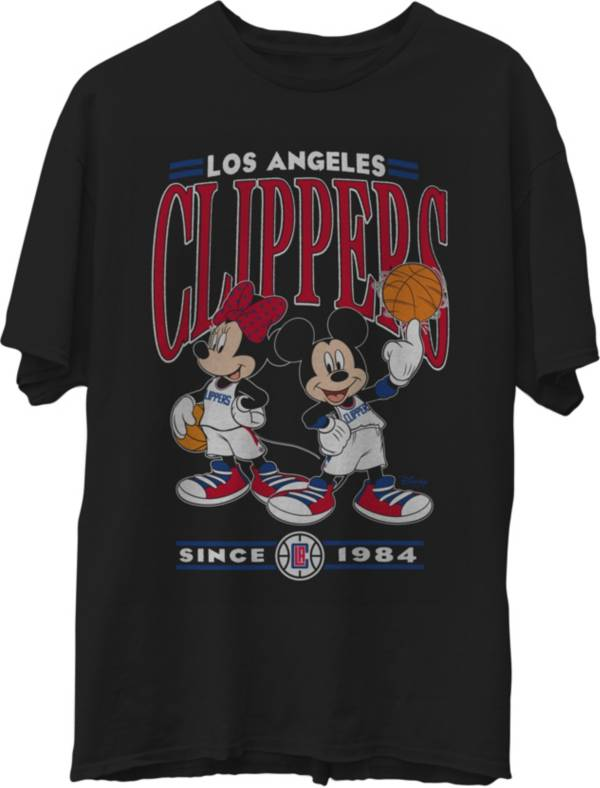 Junk Food Men's Los Angeles Clippers Disney Vintage Minnie & Mickey Black T-Shirt product image