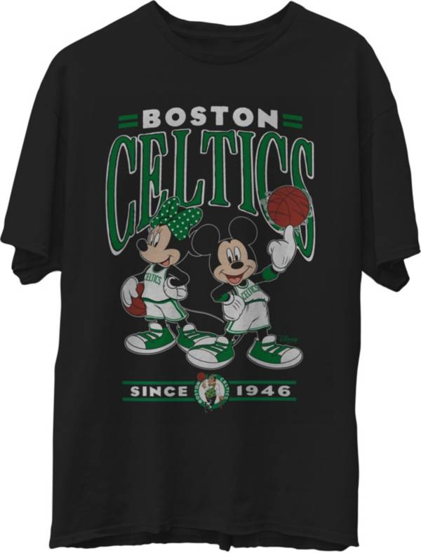 Junk Food Men's Boston Celtics Disney Vintage Minnie & Mickey Black T-Shirt product image