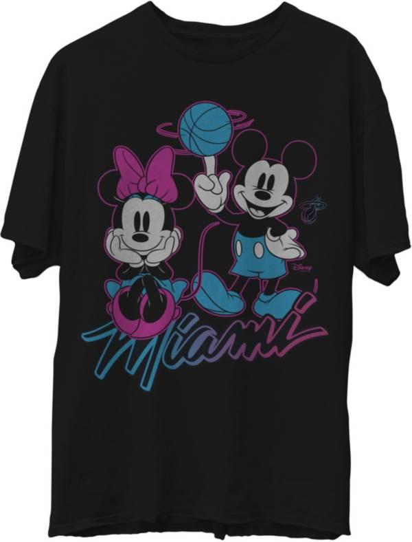 Junk Food Men's 2020-21 City Edition Miami Heat Disney Vintage Minnie & Mickey T-Shirt product image