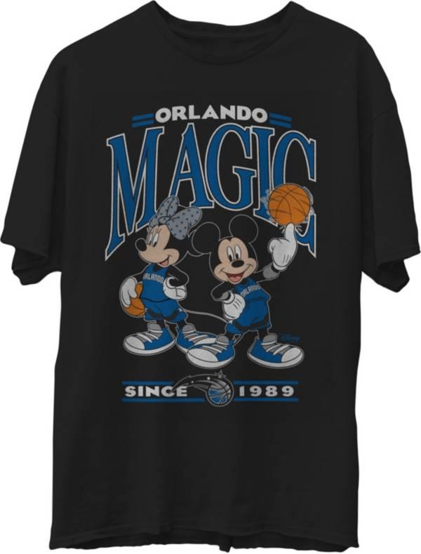 Junk Food Men's Orlando Magic Disney Vintage Minnie & Mickey Black T-Shirt product image