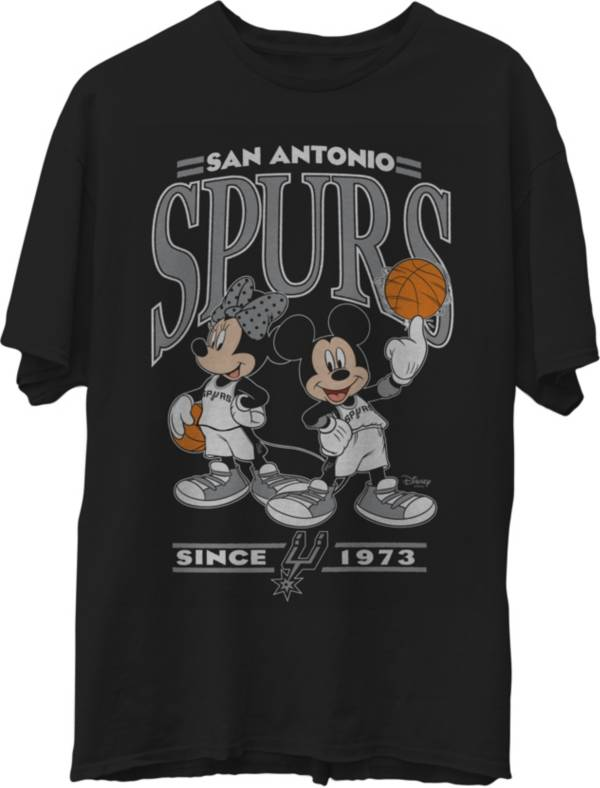 Junk Food Men's San Antonio Spurs Disney Vintage Minnie & Mickey Black T-Shirt product image