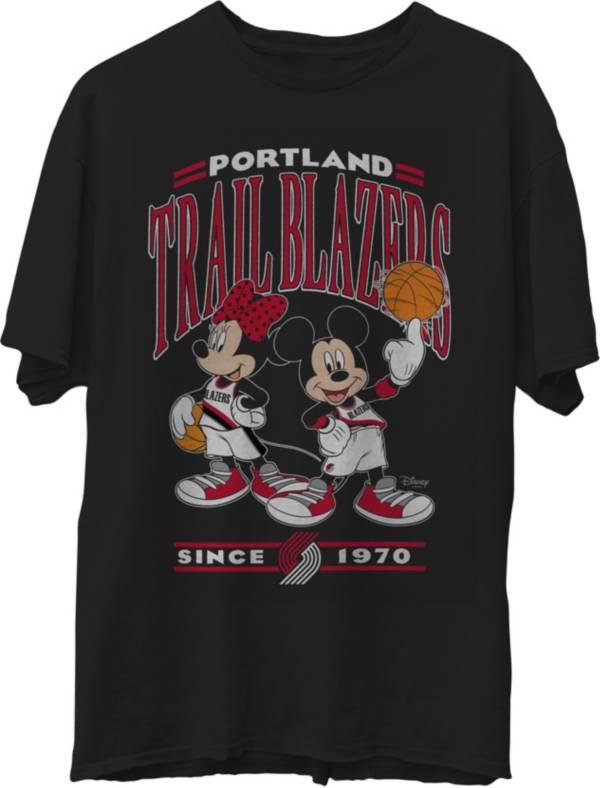 Junk Food Men's Portland Trail Blazers Disney Vintage Minnie & Mickey Black T-Shirt product image