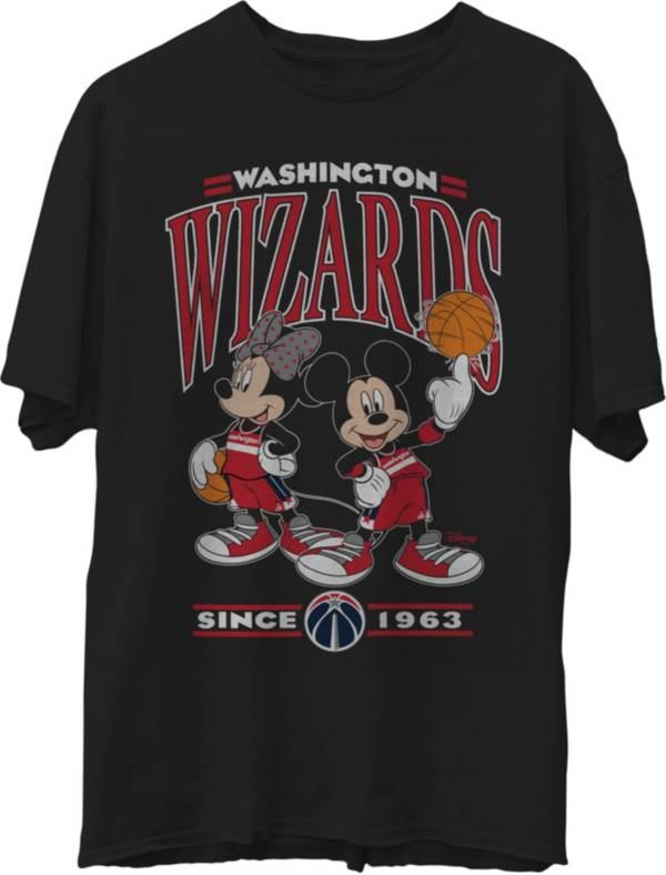 Junk Food Men's Washington Wizards Disney Vintage Minnie & Mickey Black T-Shirt product image