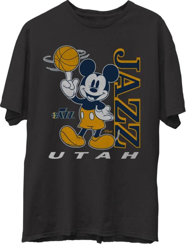 Junk Food Men's Utah Jazz Disney Vintage Mickey Baller Black T-Shirt product image