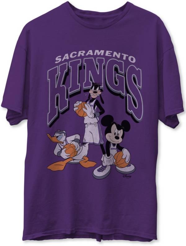 Junk Food Men's Sacramento Kings Purple Disney Vintage Mickey Squad T-Shirt product image