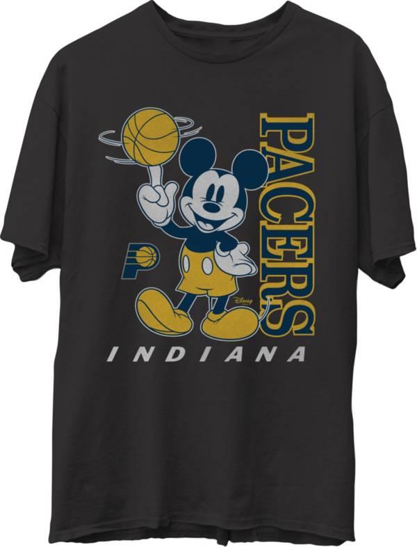 Junk Food Men's Indiana Pacers Disney Vintage Mickey Baller Black T-Shirt product image