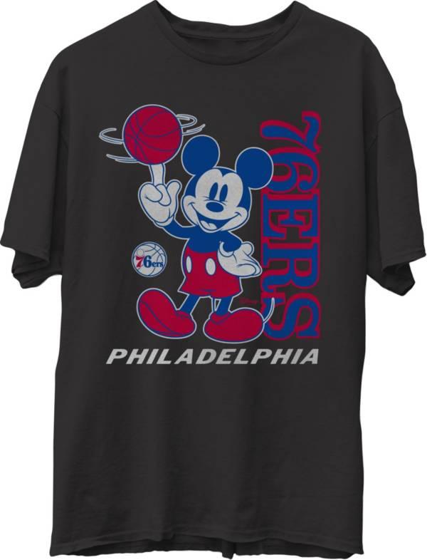 Junk Food Men's Philadelphia 76ers Disney Vintage Mickey Baller Black T-Shirt product image