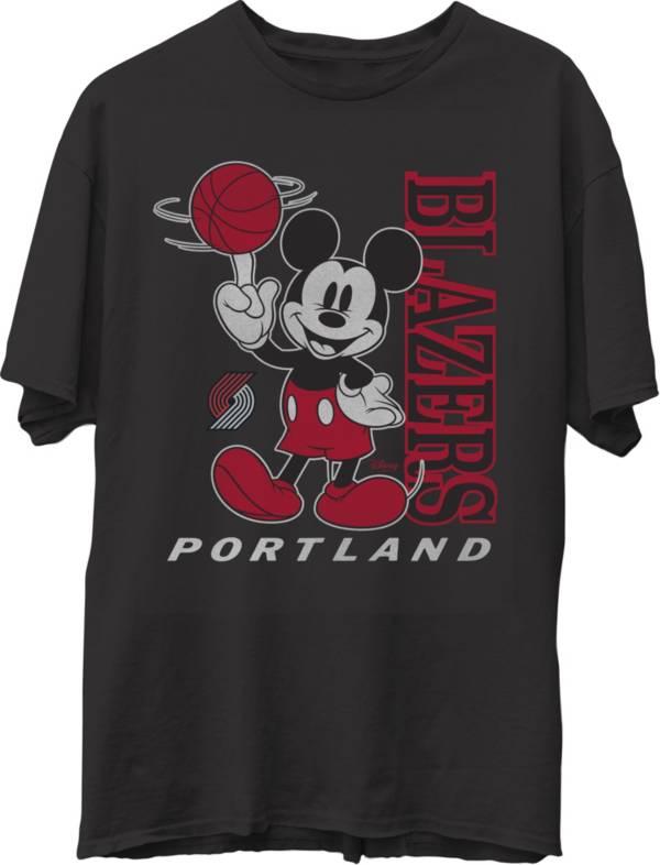 Junk Food Men's Portland Trail Blazers Disney Vintage Mickey Baller Black T-Shirt product image