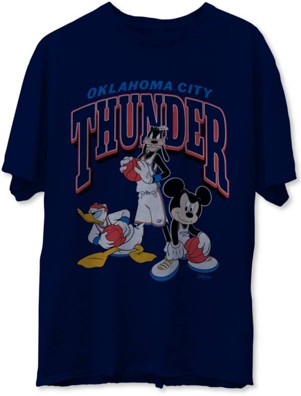 Junk Food Men's Oklahoma City Thunder Blue Disney Vintage Mickey Squad T-Shirt product image