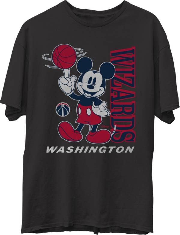 Junk Food Men's Washington Wizards Disney Vintage Mickey Baller Black T-Shirt product image