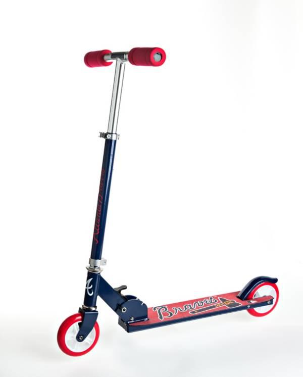 Walk-Onz Sports Youth Atlanta Braves Folding Kick Scooter product image