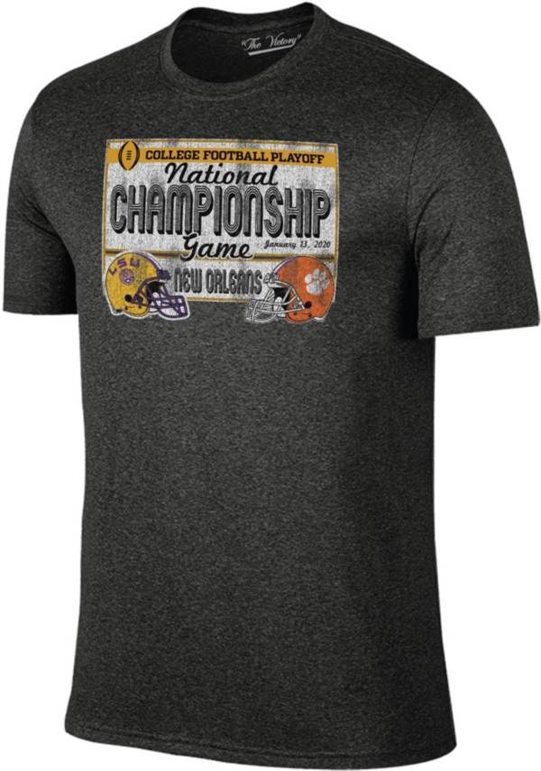 The Victory Men's 2019 National Champions Clemson Tigers and LSU Tigers Dueling Team T-Shirt product image