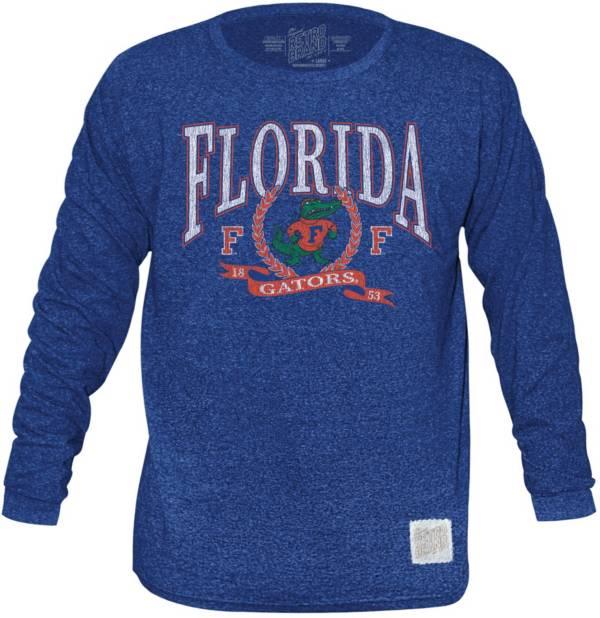 Original Retro Brand Men's Florida Gators Blue Tri-Blend Long Sleeve T-Shirt product image