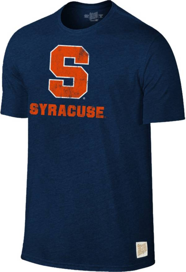 Original Retro Brand Men's Syracuse Orange Blue Tri-Blend T-Shirt product image