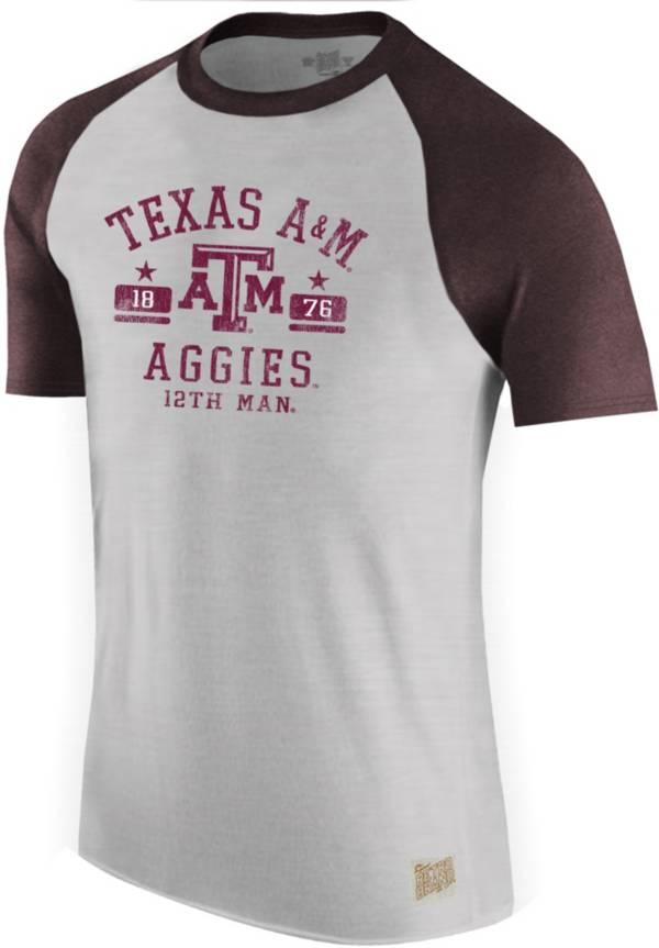 Original Retro Brand Men's Texas A&M Aggies Grey Raglan T-Shirt product image