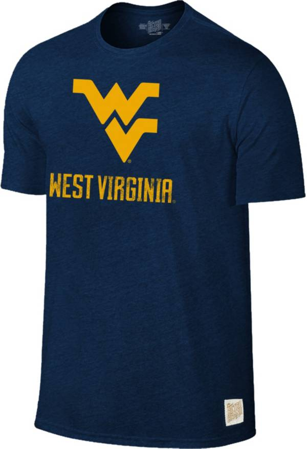Original Retro Brand Men's West Virginia Mountaineers Blue Tri-Blend T-Shirt product image