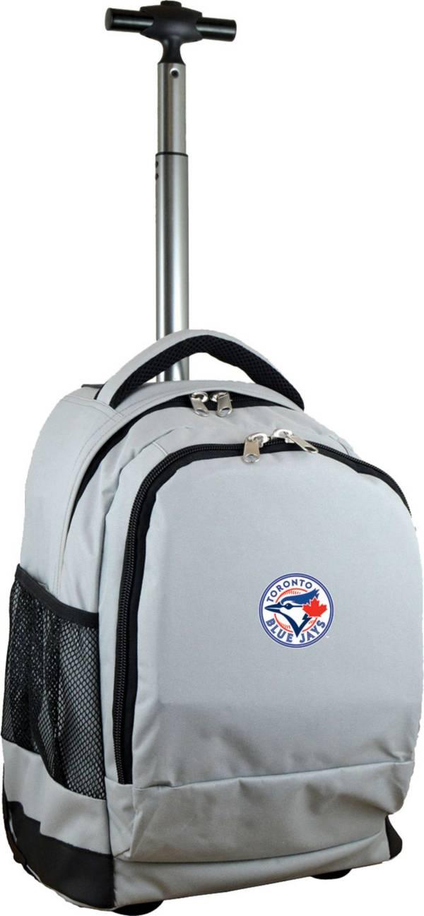 Mojo Toronto Blue Jays Wheeled Premium Grey Backpack product image