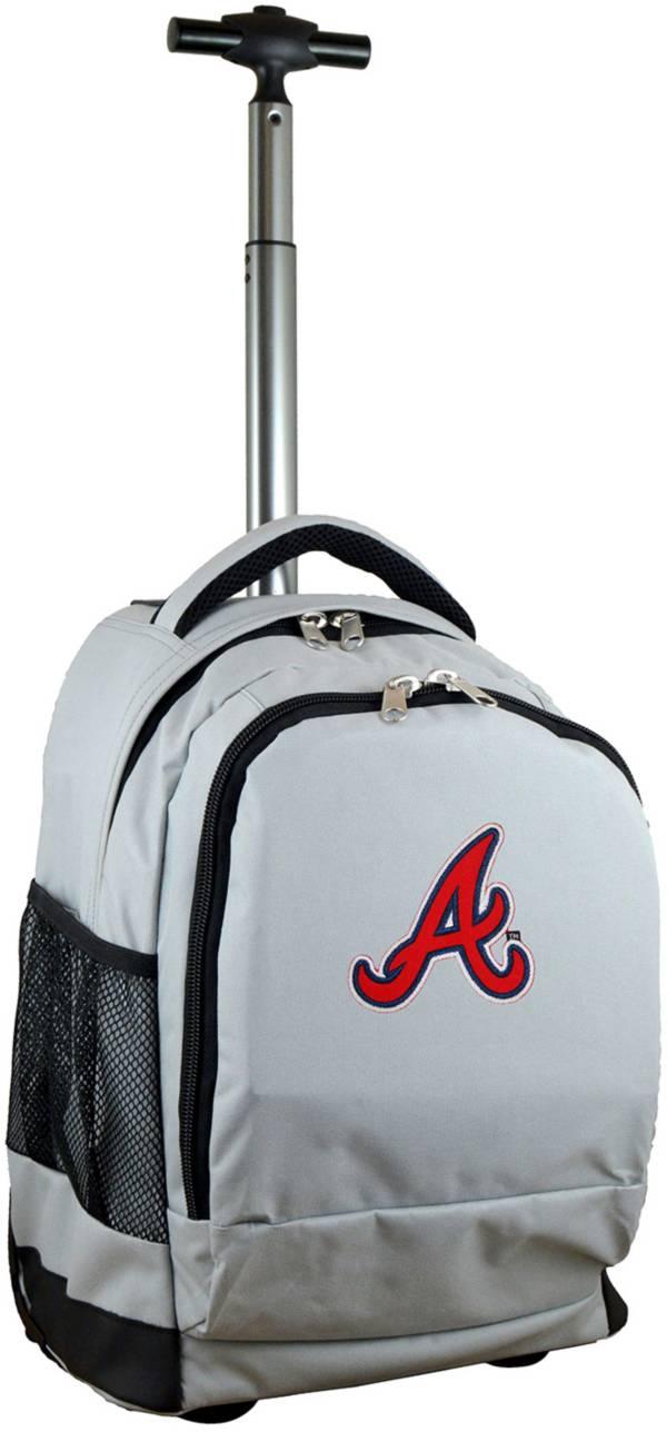 Mojo Atlanta Braves Wheeled Premium Grey Backpack product image