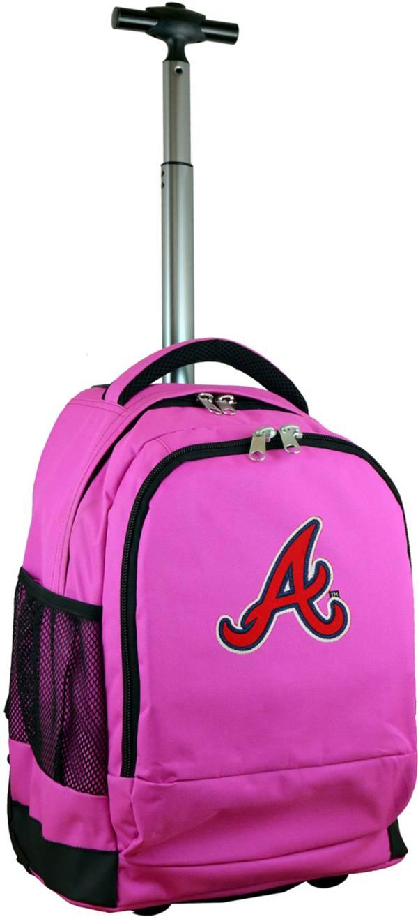 Mojo Atlanta Braves Wheeled Premium Pink Backpack product image