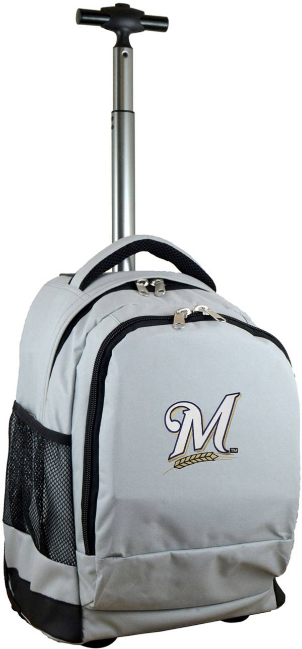 Mojo Milwaukee Brewers Wheeled Premium Grey Backpack product image