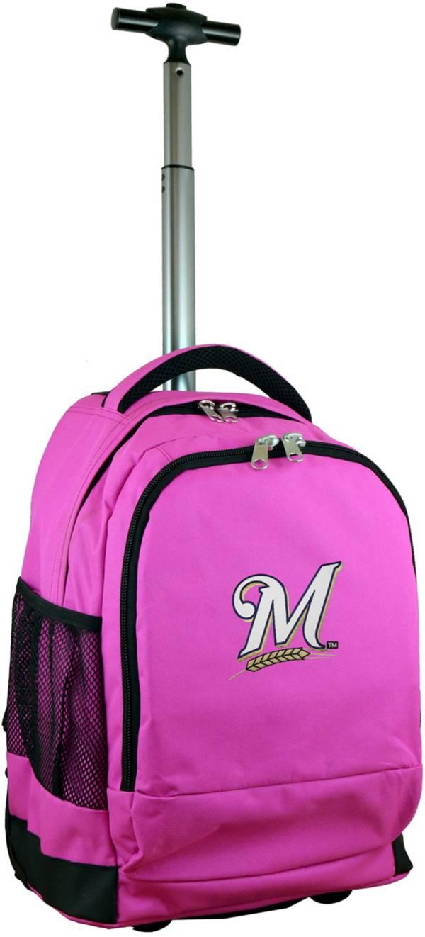 Mojo Milwaukee Brewers Wheeled Premium Pink Backpack product image