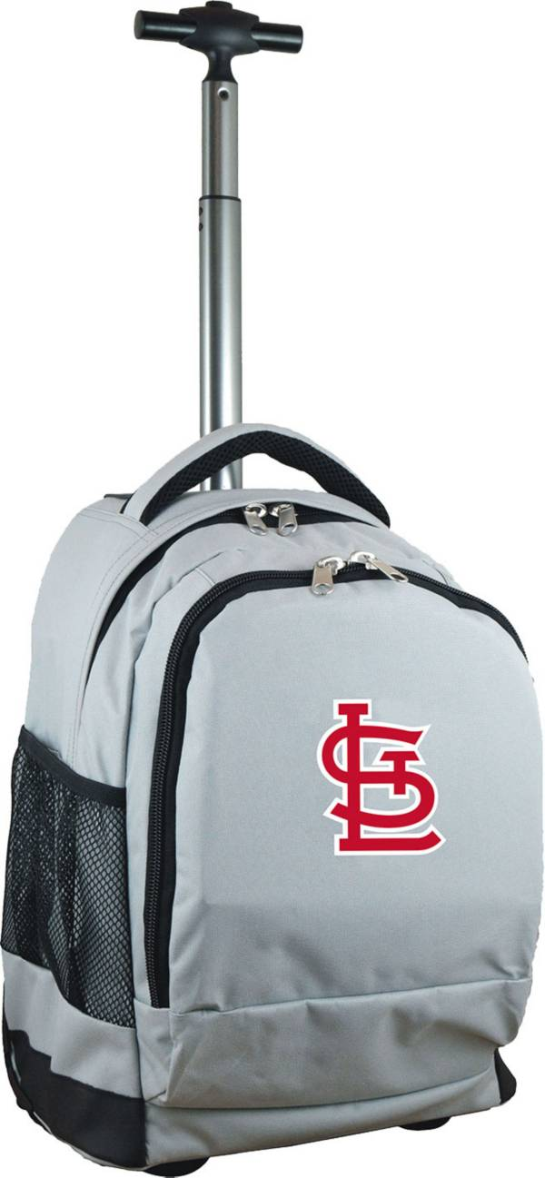 Mojo St. Louis Cardinals Wheeled Premium Grey Backpack product image