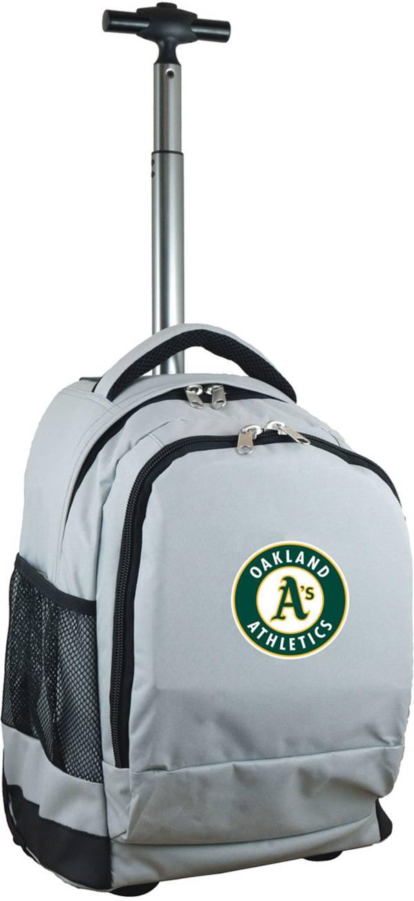 Mojo Oakland Athletics Wheeled Premium Grey Backpack product image