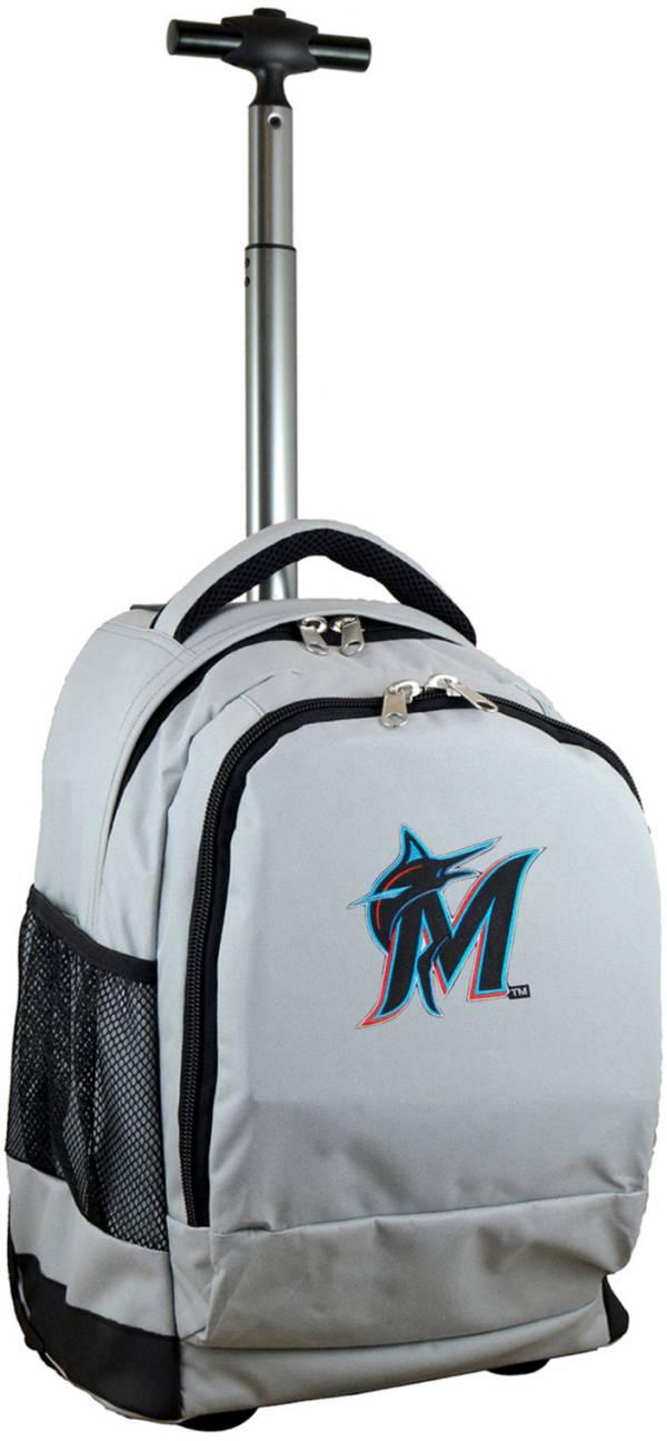 Mojo Miami Marlins Wheeled Premium Grey Backpack product image